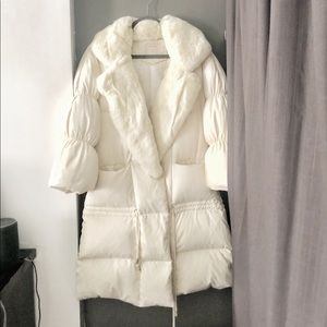 Rabbit fur down jacket